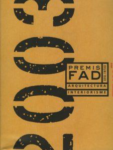 Catálogo Premios FAD 2003
