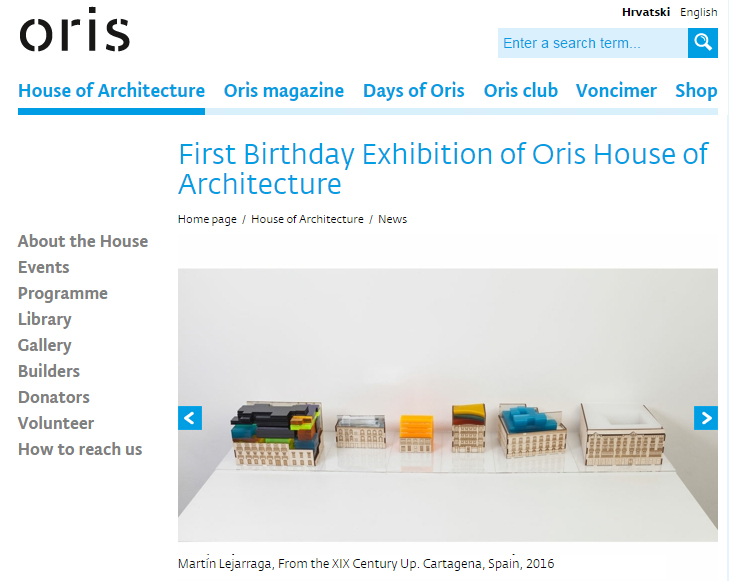 First Birthday Exhibition Of Oris House Of Architecture Zagreb