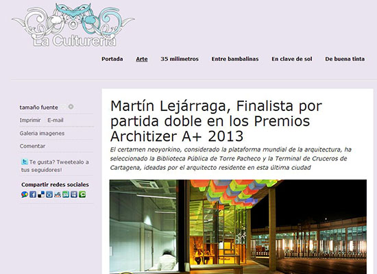 Cultureria_Architizer Awards