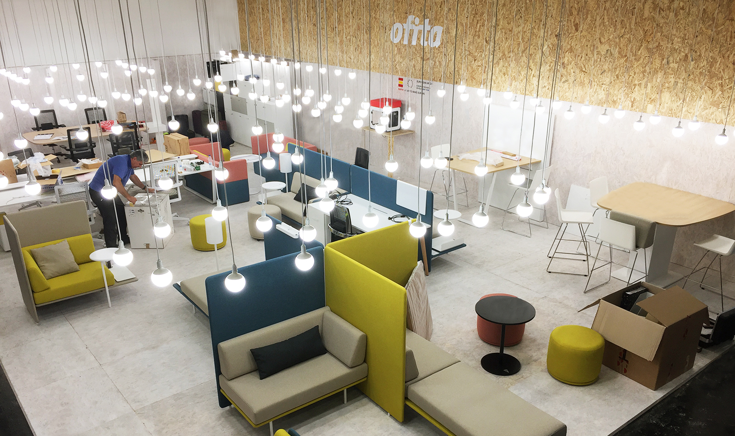 Ofita Stand. Orgatec. Cologne, Germany