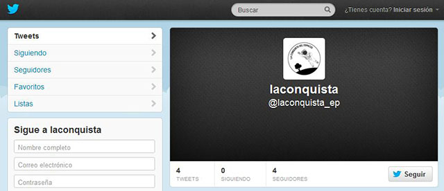 LaConquistaTwitter