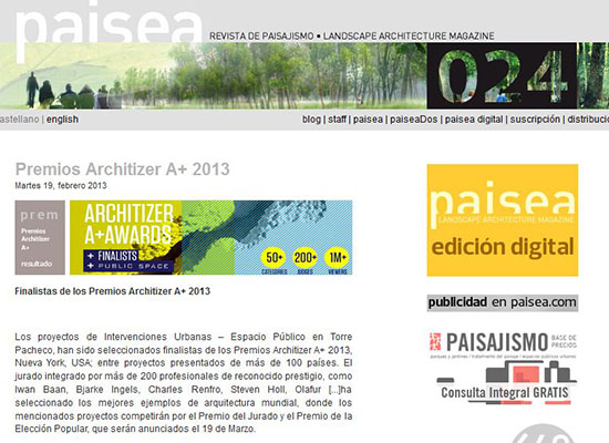 Paisea_Architizer Awards
