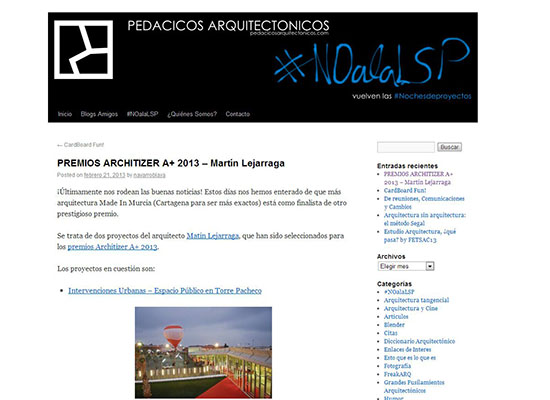 Pedacicos_Architizer Awards