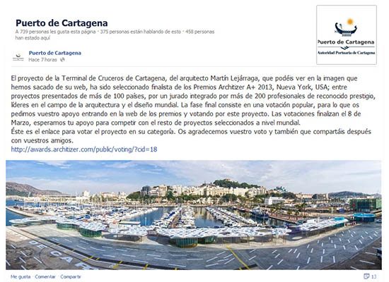 PuertoCartagena_Architizer Awards